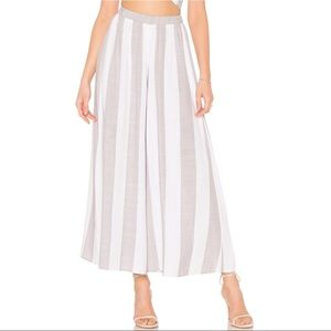 Show Me Your Mumu Striped Wide Leg Crop Pants Sz S